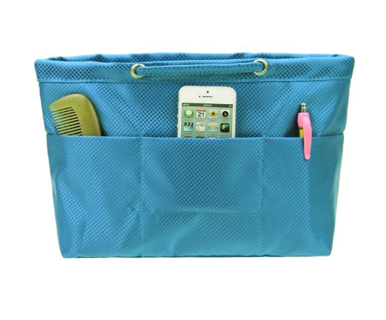 Multiple pockets 210D polyester cosmetic bag portable travel toiletry case ladies makeup bag