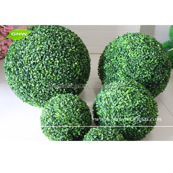Artificial Plastic Boxwood Topiary Grass Ball Green for Christmas Party DecorationBOX023-4 GNW