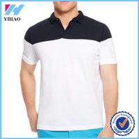 Yihao 2015 high quality mens casual outdoor wear dry fit two color polo shirt