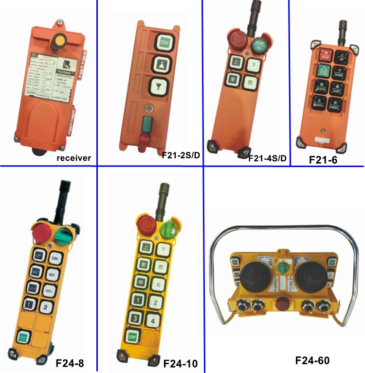 TELECONTROL F21series universal usage wireless control for overhead crane