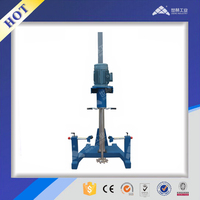 Oil based paint pneumatic lifting high speed dispersing mixer