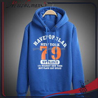 mens velour printing logo sweatshirt with hood