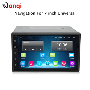 Android 6.0 GPS Navigation 7 inch 2 din DVD 1024x600 Car Radio BT USB 2din Universal For Nissan Toyota VW Peugeot Player
