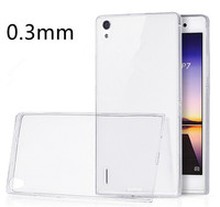 New design 0.3mm TPU case for HUAWEI P7