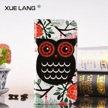 For Samsung Galaxy A5 A500 Flower Butterfly Pattern Leather Case with Card Slots Wallet