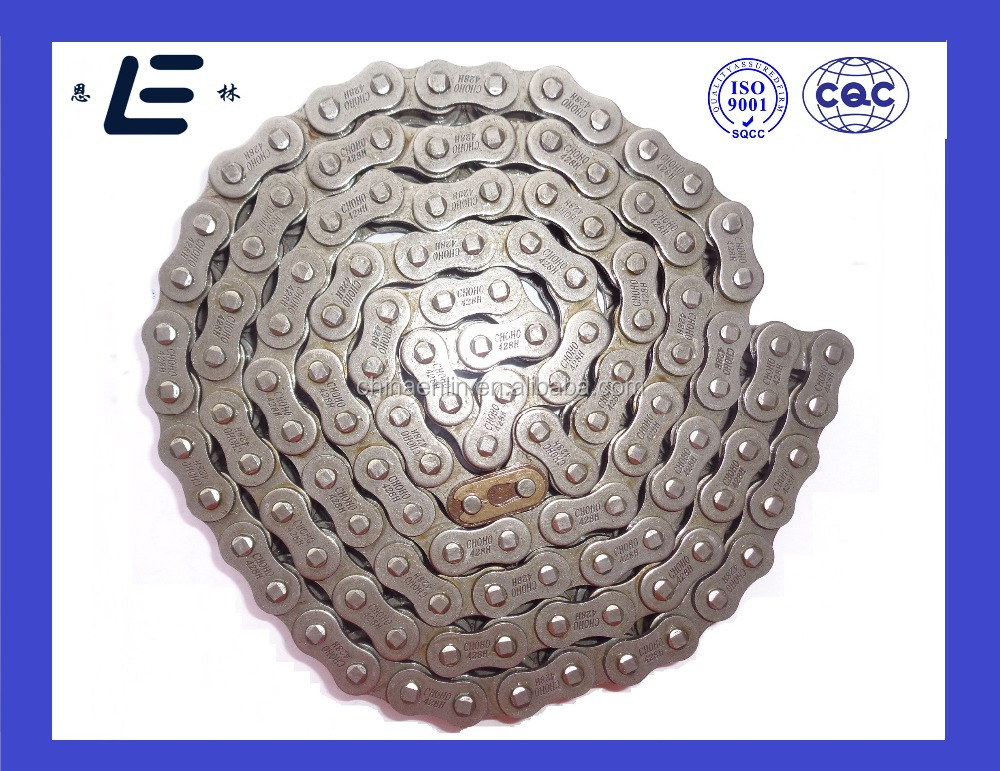 Motorcycle Spare Parts 1045 Steel White Zinc 428H Motorcycle Chain and Sprocket Kits