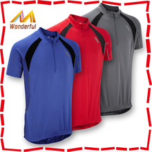 High Quality Mens Cycling Clothes Racing Jersey Top T-Shirt - Short Sleeve - Blue Red Grey