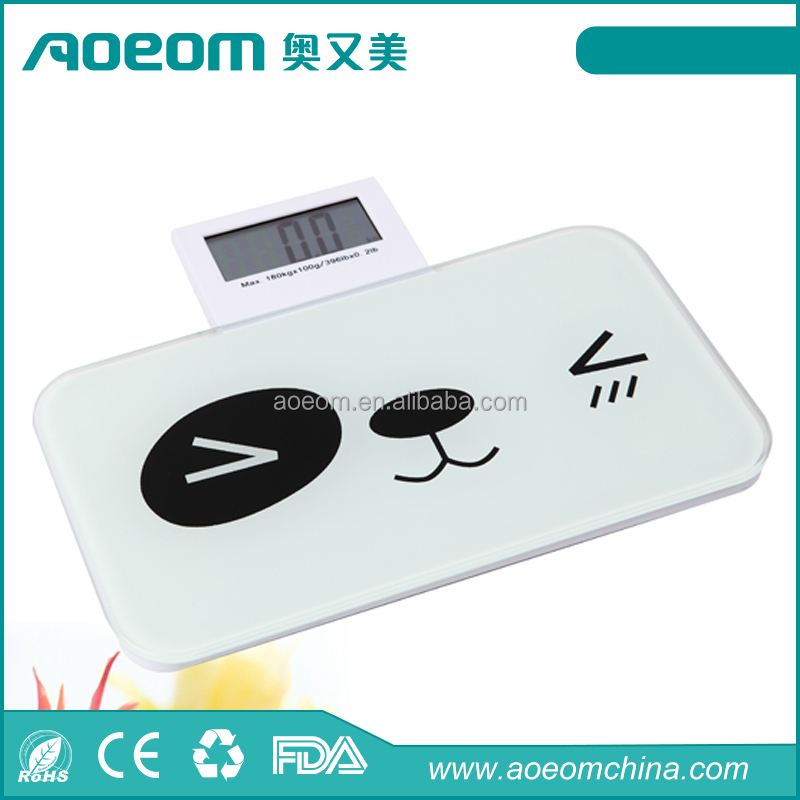 Small bathroom scale Portable Mini Scale Folding Display body weighing scale