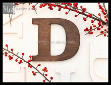 Hand painted and alphabet decorated wooden vintage letters