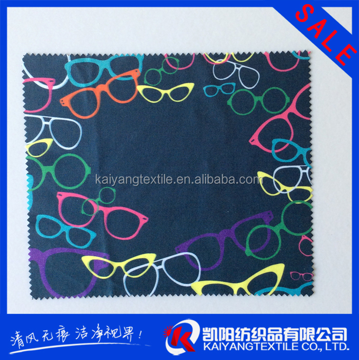 Digital print lens microfiber cleaning cloth with custom design