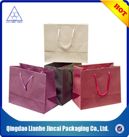 folding paper hand carry shopping bags