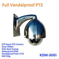 full Vandalproof Exd II CT6 waterproof ir sony ccd Motion detection cctv 27x ptz camera promotional