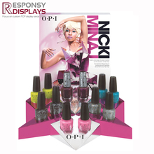 counter top acrylic high end cosmetic display nail polish display rack