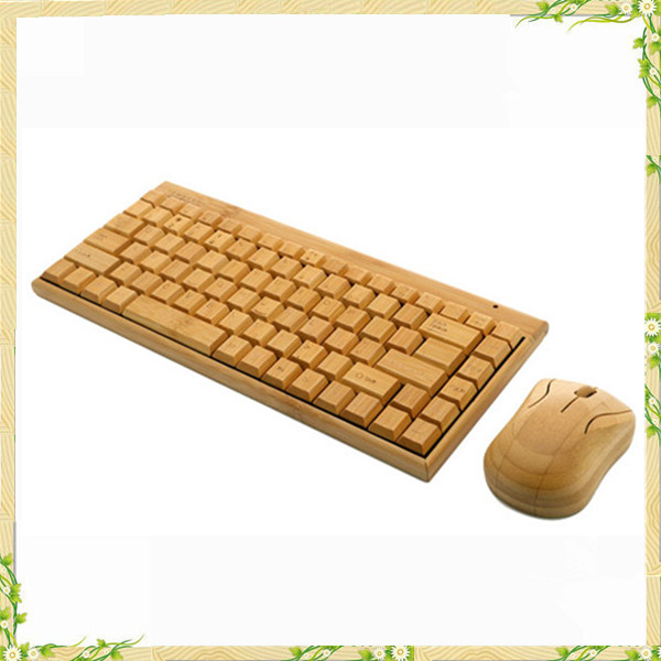 2016 wholesale china bamboo cheap wireless keyboard and mouse