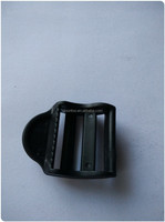 trapezoid black POM material bag buckle