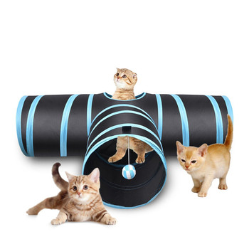 Pet Cat Tunnel 3 Way Cat Tunnel Cat Toy Tube With Storage Bag
