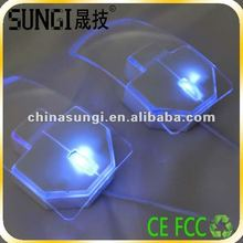 2012 Latest Best Selling Light Transparent Mouse For Gifts