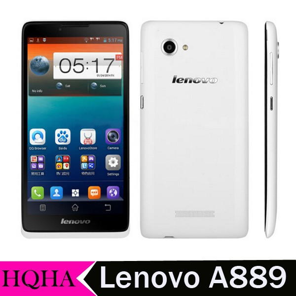 Lenovo A889 Quad Core MTK6582 6.0 inch 1GB RAM 8GB ROM 8.0mp gps bluetooth wifi Dual Sim Card 3G Mobile Phone