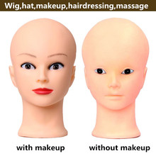 wholeale price makeup cheap manikin foam bald wig mannequin head without hair for hat