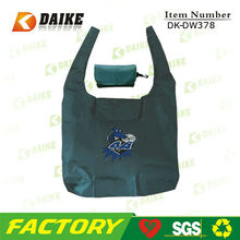 Custom eco nylon foldable black nylon tote bag DK-DW378