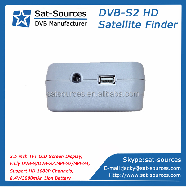 HD Satellite Finder Meter with 3.5 inch LCD Screen