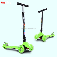 2016 cheap big wheel off road folding kick scooter / foldable three wheel scooter with customize Logo