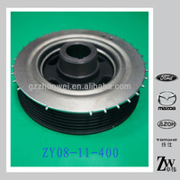 Hot-saling pulley crankshaft/shaft pulley ZY08-11-400 for MAZDA 3/1.6 made in China