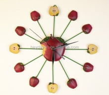 home decor apple shape resin wall clock(HD-8001G)