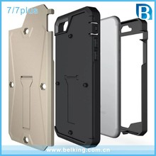 Hottest Product Shockproof Heavy Duty Hybrid TPU PC Hard Case for iPhone 7/For iPhone 7 Plus Waterproof Tank Kickstand Cover