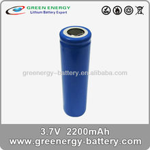 litium ion batteries 3.7v 2.2ah 18650 single cell or cell pack