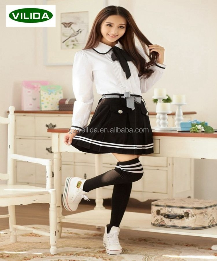 high quality school uniform oem custom sexy japaness school uniform for high school girls