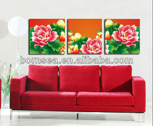flower picture printing group painting living room modern decorative painting