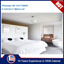 Contemporary high gloss UV bedroom furniture in bedroom made in Guangdong