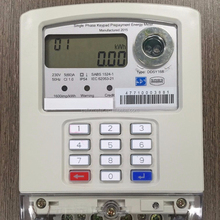 Single phase prepaid electric meter with RF & PLC &2 wires communications