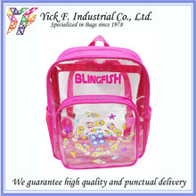 Summer Playful Fish Print Clear PVC Kids Children Backpack / Beach Bag