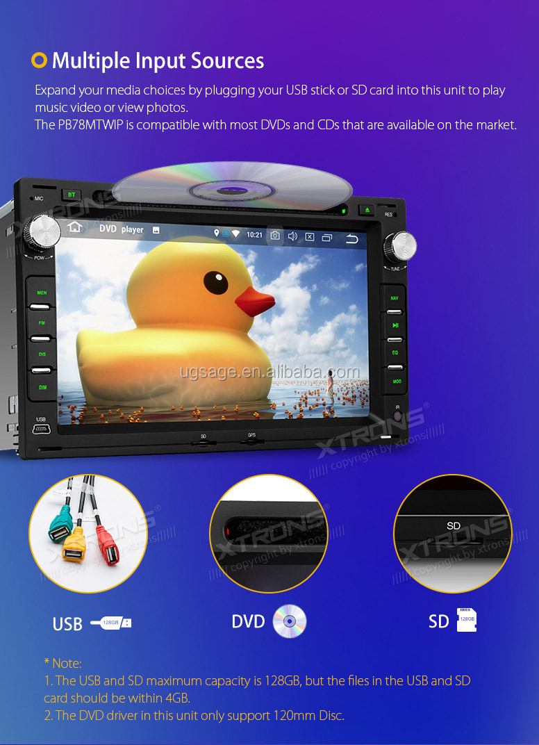 "XTRONS 7"" Capacitive Touch Screen Android 8.0 Octa core car dvd player for vw passat b5, radio gps car"