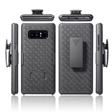 OEM Cell Phone 2 in 1 Robot Weave Holster Case For Samsung S8 S8 plus Note 8 and For iPhone X Shell Holster Belt Clip Case