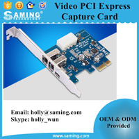 firewire video pci express capture cards/ multimedia application of real-time data transmission PCI-E capture cards