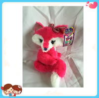 Free Sample Custom Mini Cute Soft Stuffed Plush Red Fox Toy For Girls And Kids