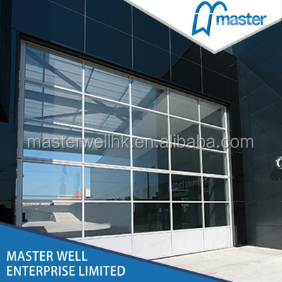 Aluminum glass panel garage door / automatic used commercial garage doors
