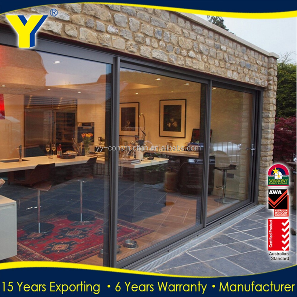 aluminium doors and windows designs Commercial Position and Sliding Open Style used sliding glass doors sale