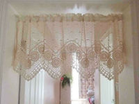 2014 New Design of Deco 100% hand crocheted valance