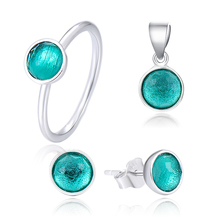 POLIVA Fashion Fine Artificial Jewellery Hot Sale 925 Sterling Silver Girls Gemstone Diamond Graphics Jewelry Set
