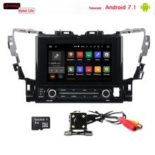 9 inch touch screen Android 7.1 car gps audio radio player for toyota alphard 2014-2017 with a/v system 2gb ram dab rds tpms dvr