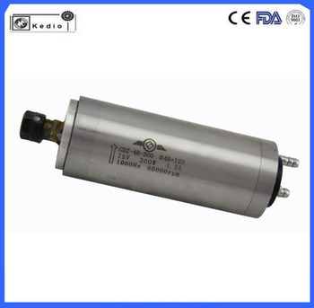 48mm diameter 300w water cooled spindle motor for cnc router 36000/60000rpm