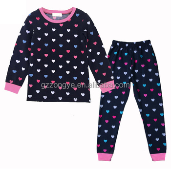 Wholesale kids clothing children's suit cotton winter heart pattern clothes