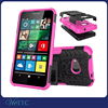 Tyre grain hybrid kickstand hard plastic back cover case for nokia lumia 550