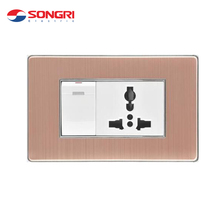 Songri white color 3 pin multifunction socket electrical wall switch and socket
