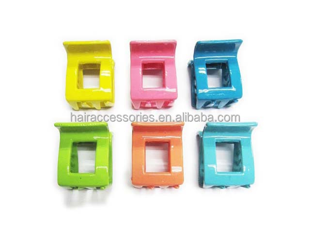 Candy color hair clips small hair claw clip for kids