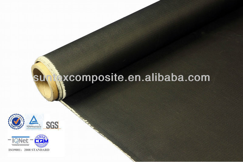 27oz 1mm black pva coated fireproof insulation fiberglass curtains
